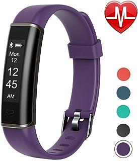 Letsfit Fitness Tracker con monitor de frecuencia cardíaca, podómetro, reloj inteligente resistente al agua con contador de pasos, monitor de sueño, rastreador de pasos para niños mujeres y hombres