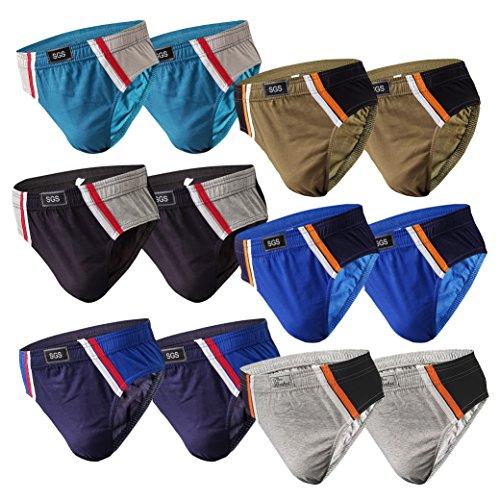 6-12 Slips Herren Unterhosen Männer Slip Unterwäsche Sportunterwäsche Unterhose Männerslip Panty (XL, 12.Stück 570)