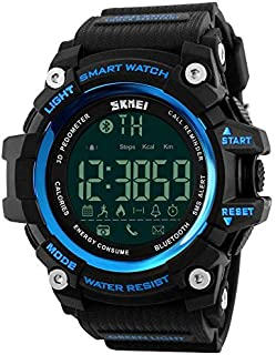 SKMEI 1227 Smart Watch Fitness Tracker with Call & Message Notification Pedometer Watch - Blue