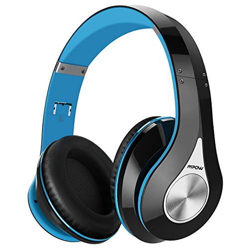 Image of the Mpow 059 Bluetooth Headphones Over Ear, Hi-Fi Stereo Wireless Headset, Foldable, Soft Memory-Protein Earmuffs, w/Built-in Mic Wired Mode, for Online Class, Home Office, PC/Cell Phones/TV