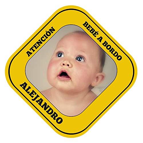 Cartel personalizado'Bebé a bordo' para el coche