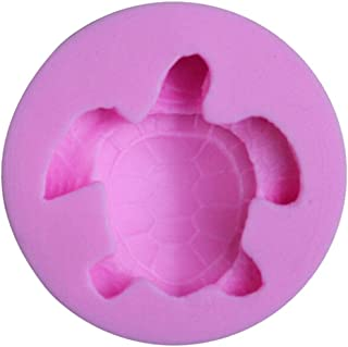1 piece CHENGLAN New Mini Cute 3D Silicone Fondant Mold Sea Turtle Cupcake Chocolate Soap Candle
