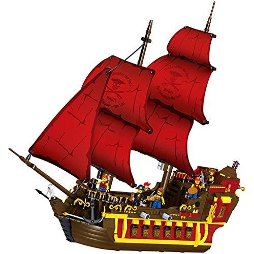 Xingdong Piratas del Caribe Barco Eterna Modelo Building Blocks niños preparan Juguetes educativos Puzzles Boy Moda