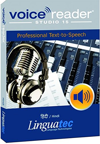 Voice Reader Studio 15 Hindi / हिंदी / Hindi – Professional Text-to-Speech Software - Logiciel synthèse vocale (TTS) pour Windows PC – Sonorisation professionnelle - Qualité vocale exceptionelle – Transformer tout type de texte en audio