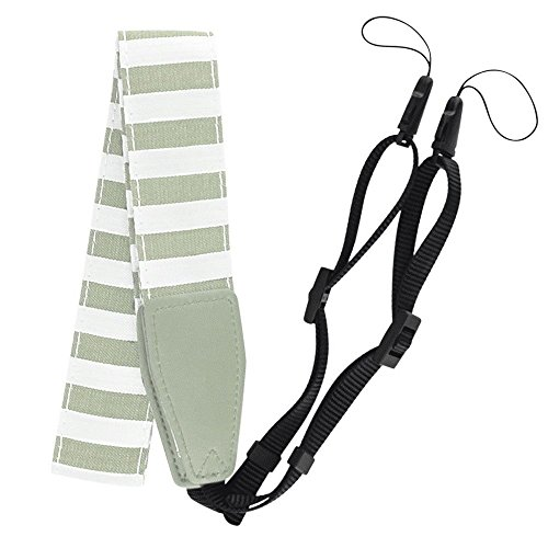 Find Bargain Smokey White Striped Camera Strap for The Fuji Instax Mini 9 - Top Value!!