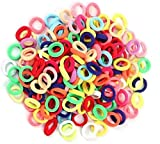 Dream Loom Hair Ties for Kids, 100pcs Small Rubber Hair Bands Elastic Ponytail Holders, Tiny Soft Hair Ties for Baby Toddlers Girls Hair Accessories