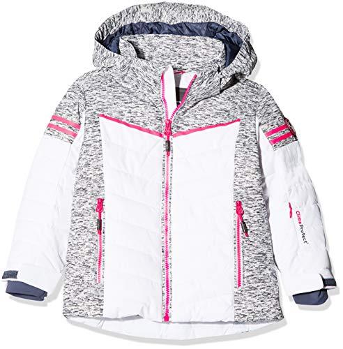 CMP Mädchen Wattierte 5000 Twill Skijacke Jacke, Bianco, 164