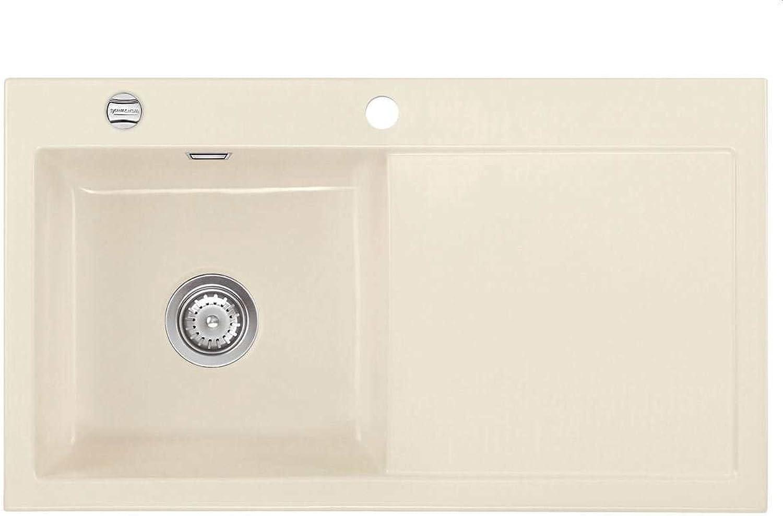 Systemceram Mera 90 Noblesse Keramik-Spüle Einbauspüle Auflagespüle Küche Beige