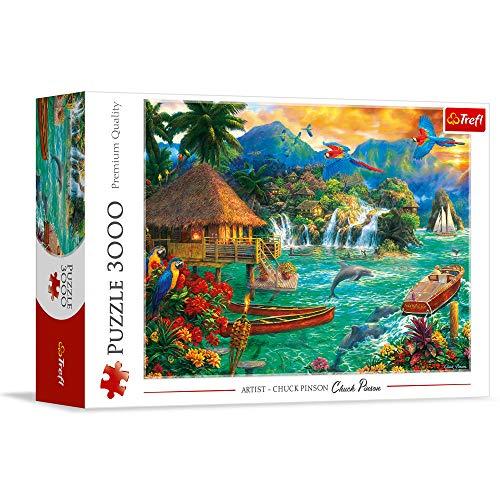 Trefl- Leben Auf Einer Insel 3000 Teile, Premium Quality, für Erwachsene und Kinder ab 14 Jahren Puzzle Colori, 33072