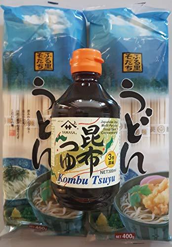 2 x japanische Udon Nudeln, Soba, Ramen-Nudeln, Kombu Tsuyu Sauce Konzentrat Soße Zutaten Grundzutaten