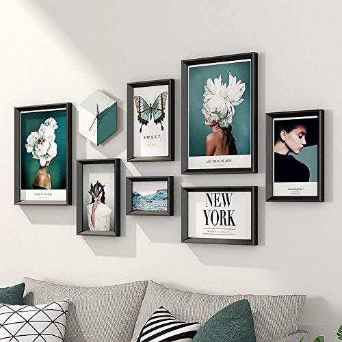 ZHQHYQHHX Beauty dekorative Malerei Sofa-Hintergrund-Wand Wohnzimmer Kombination Moderne 190x88cm (Anzahl: 8) Hängende Malerei