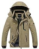 Wantdo Men's Waterproof Cold Winter Snow Jacket Ski Coat Parka Big&Tall Khaki L