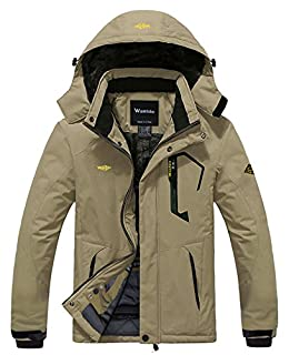 Wantdo Men's Waterproof Mountain Jacket Fleece Windproof Ski Jacket US XL  Khaki XL (B00OA1C080) | Amazon price tracker / tracking, Amazon price history charts, Amazon price watches, Amazon price drop alerts