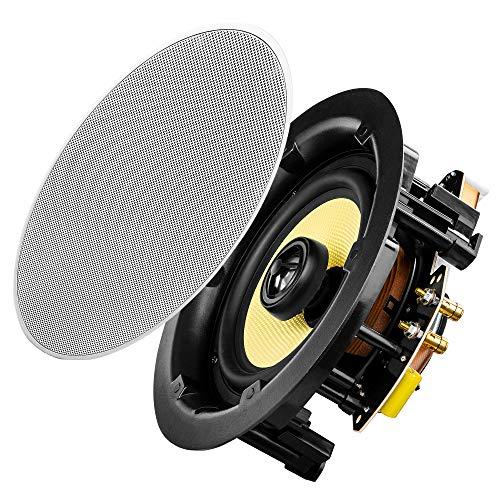 "OSD Audio 6.5"" Trimless Ceiling Speaker Pair – 90W KevlarWoofer - ACE650"