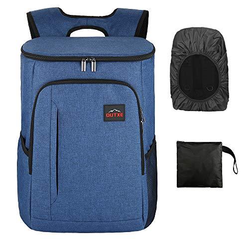 OUTXE Kühltasche Rucksack 25L Picknicktasche Lunchtasche für Camping Wandern Picknick (Blau)