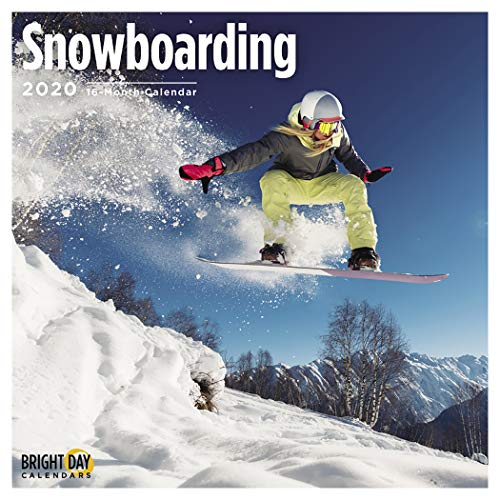 Bright Day 2020 Snowboard-Wandkalender, 16 Monate, 30,5 x 30,5 cm, Schnee Wintersport
