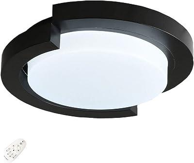 Amazon.com: LED luz de techo en color negro cromo pulido (12 ...