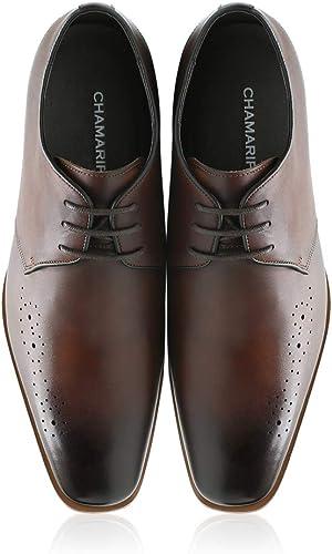 CHAMARIPA zapatos de elevación zapatos de tacón Alto para hombres de Altura Formal Aumento zapatos marrón 7 CM 2.76 inch-H82K65D171D