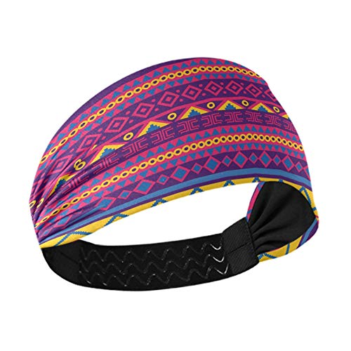 Spa Headbands Bright Vector Seamless In Mexican Style259 Womens Headband With Non-slip Elastic Webbing For Running Fitness Basketball Dancing Fits All Men And Women