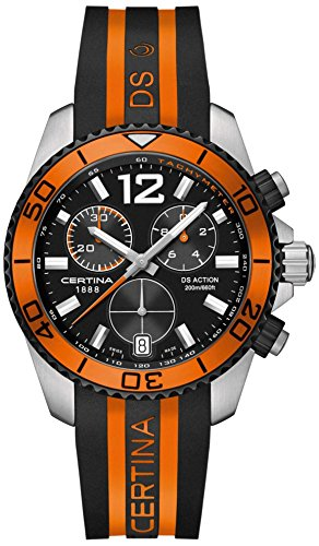 Certina C013.417.27.057.01 - Reloj para Hombres, Correa de Goma Multicolor