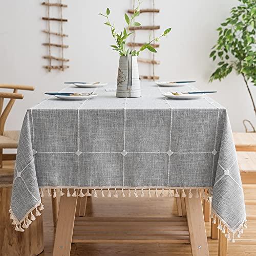 Oubonun Rustic Lattice Tablecloth (…