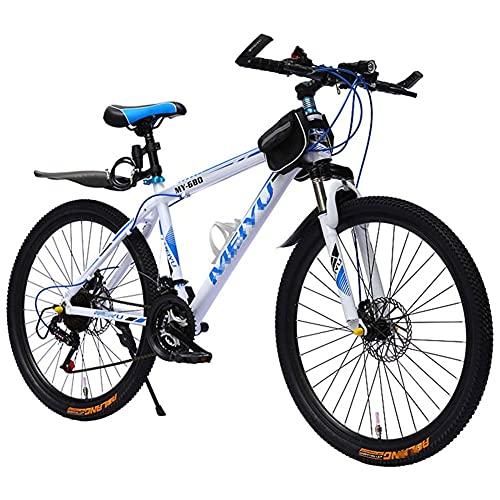Bicicleta De MontañA Con Ruedas De 26 Pulgadas, Hombres Marco De Aluminio Ligero Bicicleta MTB Con Frenos De Disco Doble Para Ejercicios De Fitness Para Adultos Velocidad Colores