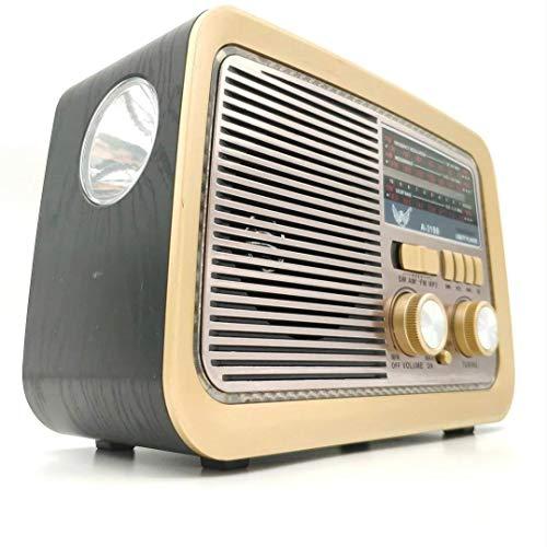 Rádio Retrô Portátil Mp3 Usb Cartão Sd Am Fm C/bluetooth (Preto)