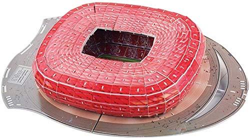 hsj Puzzle 3D de fútbol modelo de estadio, rompecabezas de fútbol 3D, kit de construcción para niños y adultos, exquisita mano de obra (tamaño: estándar e)