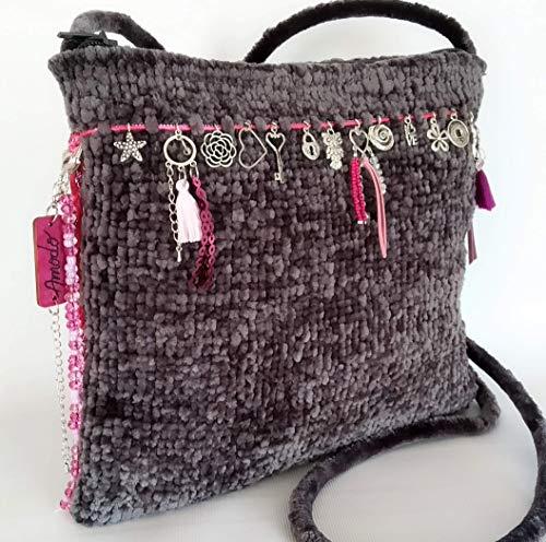 Handgewebte Tasche. Einzelstück. Modell
