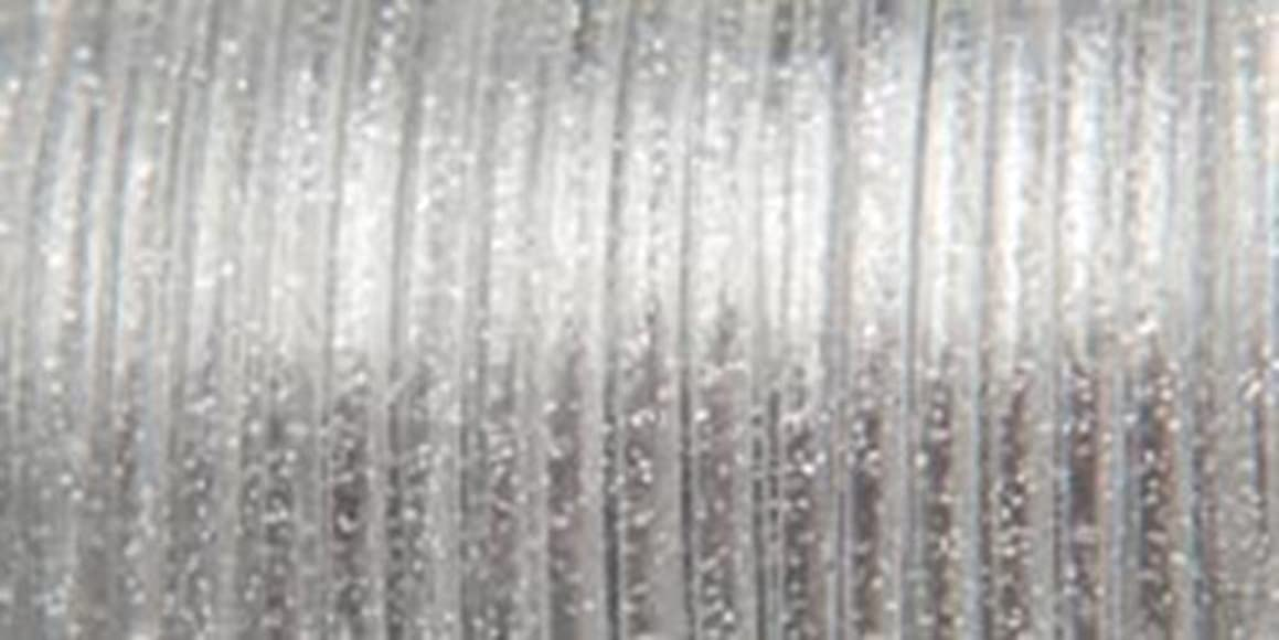 Pepperell Rexlace Plastic Lace, 0.0938-Inch, Silver Sparkle