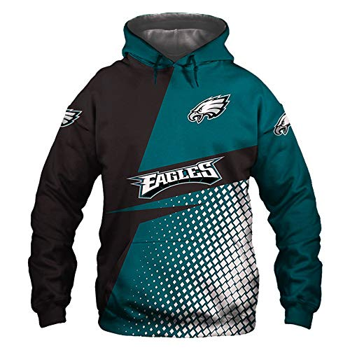 XHDH NFL Rugby Sudaderas Capucha Philadelphia Eagles