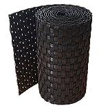 workingHOUSE Vallas para Jardin, Poli Ratán, Cercado Ocultacion de PVC de Primera Calidad de 19 x 250 cm (Negro)