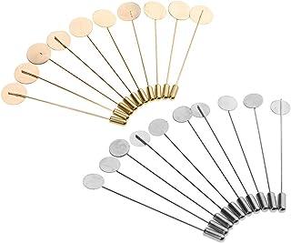 B Baosity 20pcs Spilla di Rame Fai da Te sul Collare Vestito Pin per Fai-da-Te Bastone Boutonniere
