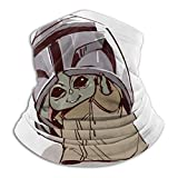 baby yoda neck gaiters face mask cold, wind, dust and uv protect for sports