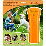 DwellMy Barking Control Device, Dog Training for Home and The Outdoors, Dog Barking Control and Trainer with LED Flashlight, Orange