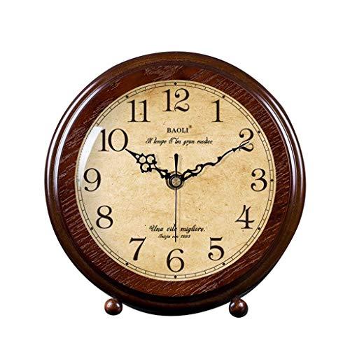 O&YQ Horloge de Table de Comptoir Horloge de Bureau Muette Horloge de Chevet Vintage de la Personnalité Étudiante Décor Horloge de Table D'Étude de Salon Il S'Applique Aux Familles Aux Bureaux Etc.Co