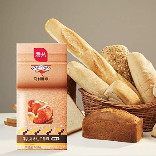 Bakkersgist, 100G Actieve Bakkers Gist Hoge Glucosetolerantie, Instant Drog Brood Bakpoeder Voor Het Maken Van Brood, Pannenkoeken, Pizzakorst, Muffins