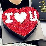 GPWDSN Seife Blumengeschenk Herz, chinesische Seifen-Blumen-Heart-Shaped Geschenk Box Kreative...