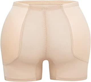HOMETA Women Seamless Underwear Butt Lifter Padded Butt Hip Enhancer Panties with Tummy Control