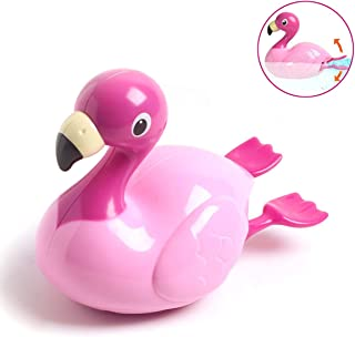 WISHTIME Baby Swimming Floating Bath Toy - Swimming Water Electronic Flamingo Bathtub Toy Floating Toys for Baby Toddler Kid Boys and Girls