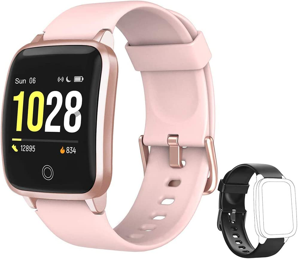 Yishark Reloj Inteligente Mujer Pulsera de Actividad Niños Hombres Podómetro Reloj Deportivo Monitor de Sueño Fitness Tracker Impermeable Smartwatch Pulsómetros Contador de Calorías Pasos Reloj Salud