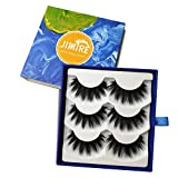 JIMIRE False Eyelashes 3D Fluffy Lashes Natural Full Volume Fake Eyelashes 3 Pairs