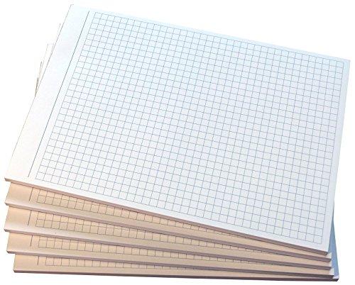 8x Notizblocks kariert in Grau - Notizen - 50 Blatt, DIN A5, 50 Blatt, Qualitäts-Offset-Papier 80g/m² (22209)