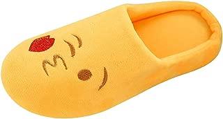 Women's & Men's Novelty Slippers,QueenMM NewComfort Memory Foam Cute Emoji House Slippers Anti Slip Indoor Cozy Warm Shoes