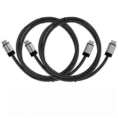 Tonton 2Pack 2Meter– 4K HDMI-Kabel (4K@120Hz & 4K@60Hz – Spektakuläres Ultra-HD-Erlebnis – High Speed mit Ethernet, kompatibel mit HDMI 2.0/1.4, Blu-ray/PS4/PS5/Xbox Series X/Switch, Schwarz)