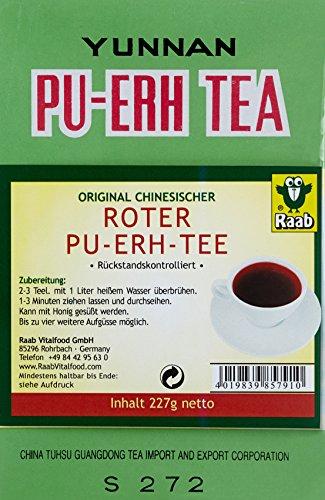 Raab Roter Pu-Ehr-Tee lose, 1er Pack (1 x 227 g Karton)