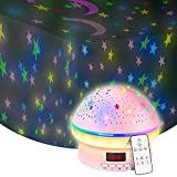 Toys for 3-8 year old Girls,Star Projector Night Light for Kids Timer Toys for 3-9 Year Olds Girls Kawaii Christmas Xmas Birthday Gifts for Girls Age 2-10 Year Old Baby Girls,Stocking Stuffer Fillers