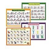 Lot de 4 affiches éducatives préscolaires pour les jeunes enfants et les enfants | Tableau Bulletin Board & Décoration d'organisation posters éducatifs pour la maternelle-20 x 30 cm