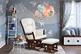 AFG Baby Furniture Alice Glider Chair & Ottoman Without Pillow, Espresso