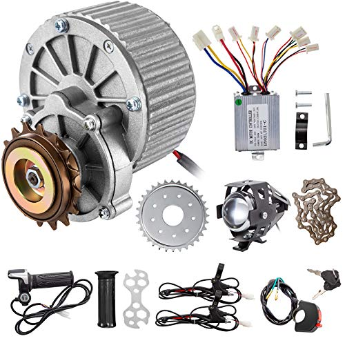 BestEquip Bicycle Reduction Motor 450W 36V Geared Motor 450RPM 16A Brushed Motor with Twist Kit and Lamp for Electric Bike Conversion Kit Electric Bicycle Scooter Motor